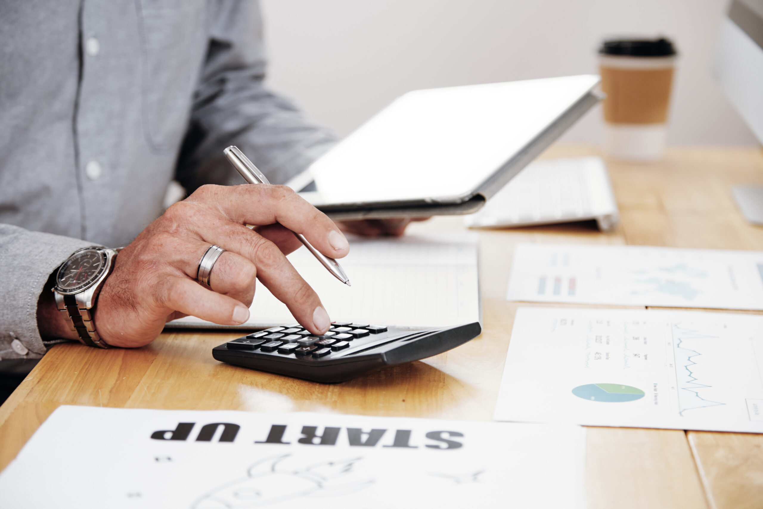 Accounting work at office 012345